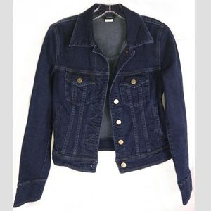 J. Crew XS Jean Denim Jacket Long Sleeve Dark